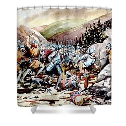 Battle Of Glenmalure  1580  Wicklow Shower Curtain
