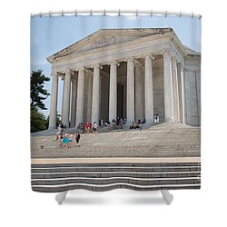Thomas Jefferson Memorial Shower Curtain by Carol Ailles