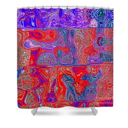 0104 Abstract Thought Shower Curtain by Chowdary V Arikatla