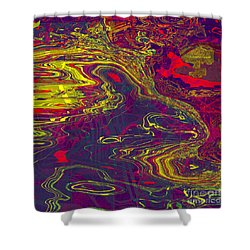 0512 Abstract Thought Shower Curtain by Chowdary V Arikatla