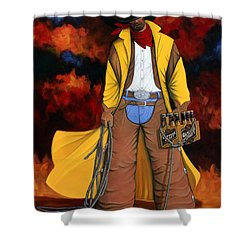 Shower Curtain featuring the painting 10 Pac by Lance Headlee