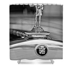 1929 Cadillac 1183 Dual Cowl Phaeton Hood Ornament Shower Curtain by Jill Reger