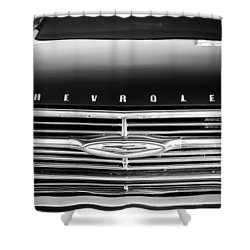 1960 Chevrolet El Camino Grille Emblem Shower Curtain by Jill Reger