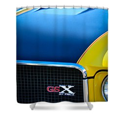 Shower Curtain featuring the photograph 1970 Buick Gsx Grille Emblem by Jill Reger