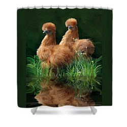 54. 2 Buffs This One Can Be Printed Shower Curtain