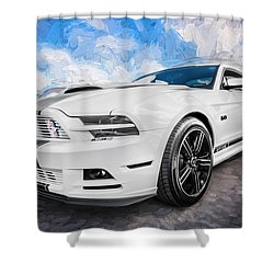 2014 Ford Mustang Gt Cs Painted  Shower Curtain by Rich Franco