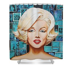 Shower Curtain featuring the painting 20th Century Fox by Joseph Sonday