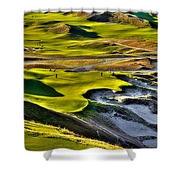 #9 At Chambers Bay Golf Course Shower Curtain