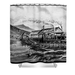A Day At The Seaside Shower Curtain by Andrew Read