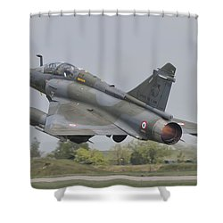 A French Air Force Mirage 2000d Taking Shower Curtain
