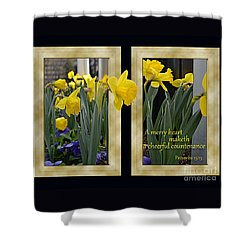 Shower Curtain featuring the photograph A Merry Heart by Larry Bishop