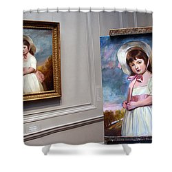 Shower Curtain featuring the photograph A Painting Of A Painting by Cora Wandel