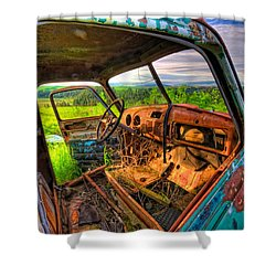 Abandoned Rusting Truck Shower Curtain