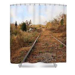 Abandoned Tracks Shower Curtain by Melinda Fawver
