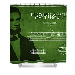 Abraham Lincoln Patent From 1849 Shower Curtain by Aged Pixel
