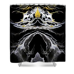 Abstract 138 Shower Curtain by J D Owen