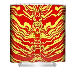 Abstract 48 Shower Curtain by J D Owen