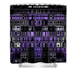 Abstract 90 Shower Curtain by J D Owen
