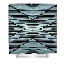 Abstract Buildings 3 Shower Curtain