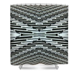 Abstract Buildings 5 Shower Curtain by J D Owen