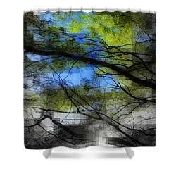 Shower Curtain featuring the photograph Abstract Forest by France Laliberte