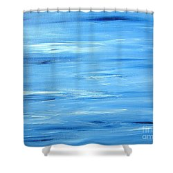Abstract Landscape Shower Curtain by Susan  Dimitrakopoulos