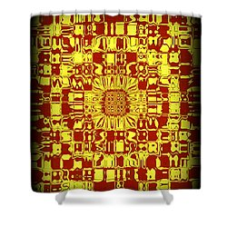 Abstract Series 10 Shower Curtain by J D Owen