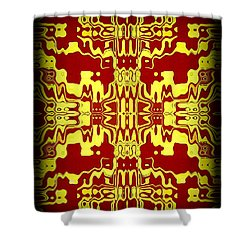 Abstract Series 3 Shower Curtain by J D Owen