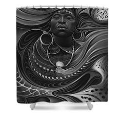 African Spirits I Shower Curtain by Ricardo Chavez-Mendez