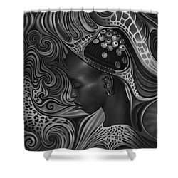 African Spirits II Shower Curtain by Ricardo Chavez-Mendez