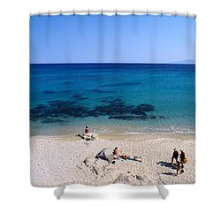 Agrari Beach Shower Curtain by George Atsametakis