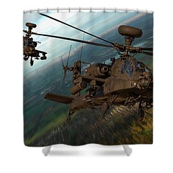 2 Ah64 Apache Shower Curtain