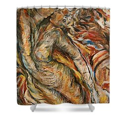 Air Shower Curtain by Dawn Fisher