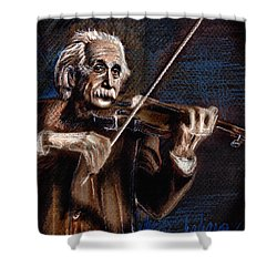 Albert Einstein And Violin Shower Curtain