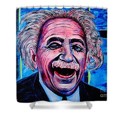 Albert Einstein Shower Curtain by Viktor Lazarev
