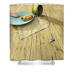 Alice Shower Curtain by Cynthia Decker