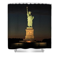 All Lit Up Shower Curtain by Catie Canetti
