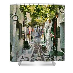 Alley In Ios Town Shower Curtain