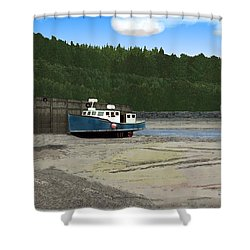 Alma Harbor Shower Curtain
