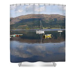 Shower Curtain featuring the photograph Along Loch Leven 3 by Wendy Wilton