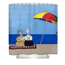 Always Together Shower Curtain by Barbara McMahon