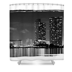 American Airlines Arena And Condominiums Shower Curtain by Carsten Reisinger