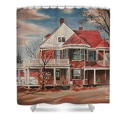 American Home IIi Shower Curtain by Kip DeVore