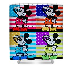 American Mickey Shower Curtain by Rob Hans