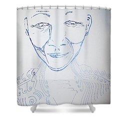 Angel Madiba - Nelson Mandela Shower Curtain by Gloria Ssali