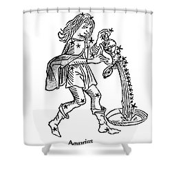 Aquarius Constellation Zodiac Sign Shower Curtain by Science Source