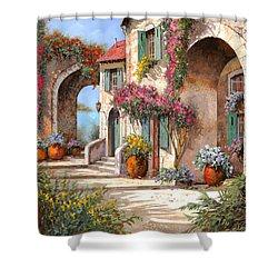 Archi E Fiori Shower Curtain by Guido Borelli