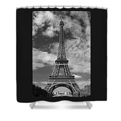 Architectural Standout Bw Shower Curtain
