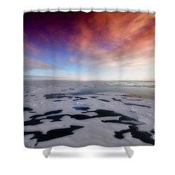 Shower Curtain featuring the photograph Arctic Sea Ocean Water Antarctica Winter Snow by Paul Fearn