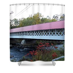 Ashuelot Covered Bridge Shower Curtain by Catherine Gagne